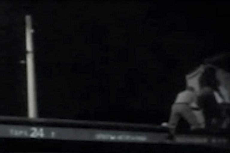 Появилось видео задержания банды во Ржеве