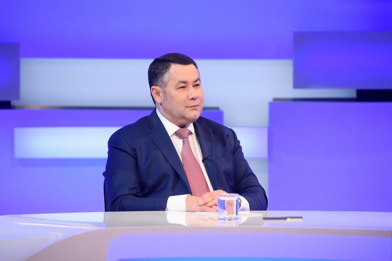 Губернатор Игорь Руденя в прямом эфире прокомментирует итоги выборов в Тверской области