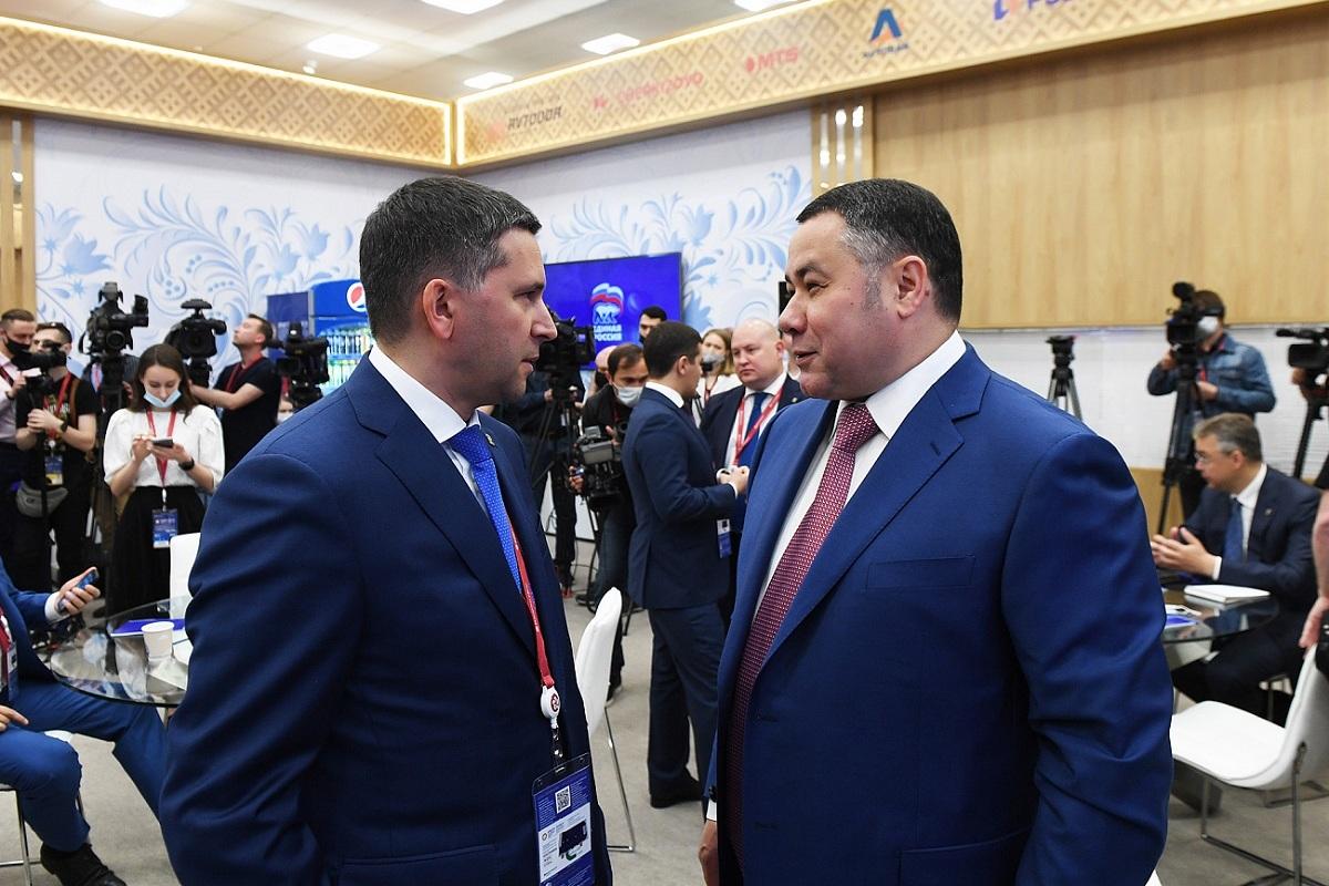 ПМЭФ-2021: Губернатор Игорь Руденя принял участие в стратегической сессии партии Единая Россия по инфраструктурным проектам