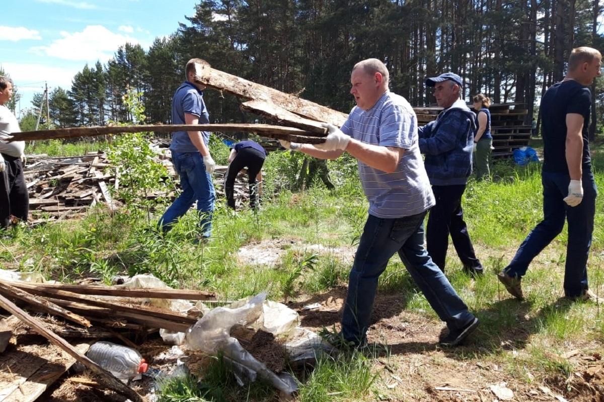 В государственном заказнике Троеручица в Тверской области прошел субботник
