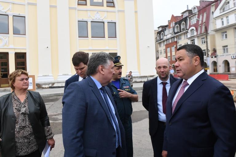 Губернатор Игорь Руденя лично проверил ход ремонта дорог в Твери