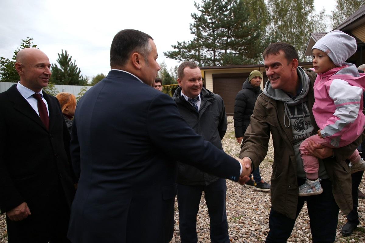 Губернатор Игорь Руденя проинспектировал газификацию деревень Славновского сельского поселения